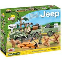 Cobi - Small Army  - Willys Mb Jeep & 1.4t Trailer (190 Pieces)