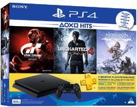 Sony PlayStation 4 Slim 500GB Console (Includes Horizon Zero Dawn Complete, Gran Turismo Sport, Uncharted 4 + 3 Months PSN) - Cover