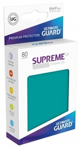 Ultimate Guard - Supreme UX Standard Size Card Sleeves - Petrol (80 Sleeves) - Cover