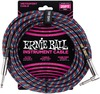 Ernie Ball 25 Foot Braided Instrument Cable (Red / Blue / White)