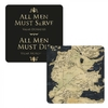 Game of Thrones - All Men Must Serve Lenticular - Single Coaster