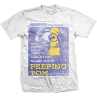 Studio Canal Peeping Tom Mens White T-Shirt (X-Large) - Cover
