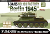 "Academy - 1/35 - T-34/85 No.183 Factory ""Berlin 1945"" Tank (Plastic Model Kits)"