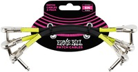 Ernie Ball 6 Inch Flat Angled Jack Patch Cables 3 Pack (Black) - Cover