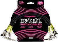 Ernie Ball 1 Foot Patch Cables 3 Pack (Black) - Cover