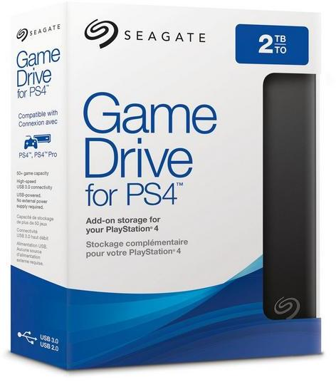 Seagate - 2TB Game Drive for PS4 USB 3.0 External Hard Drive