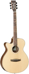 Tanglewood  DBT SFCE BW LH Discovery Series Super Folk Cut Away Acoustic Electric Guitar - Left Handed (Natural)