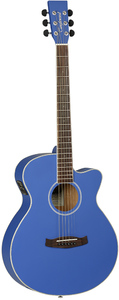 Tanglewood DBT SFCE DBL Discovery Series Super Folk Acoustic Electric Guitar (Dark Cobalt Blue) - Cover