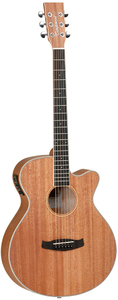 Tanglewood TWU SFCE Union Series Folk Acoustic Electric Guitar with Case (Natural) - Cover