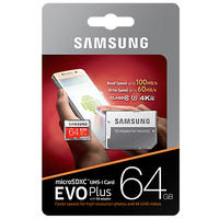 Samsung EVO Plus 64GB MicroSDXC UHS-I Class 10 SD Card with Adapter