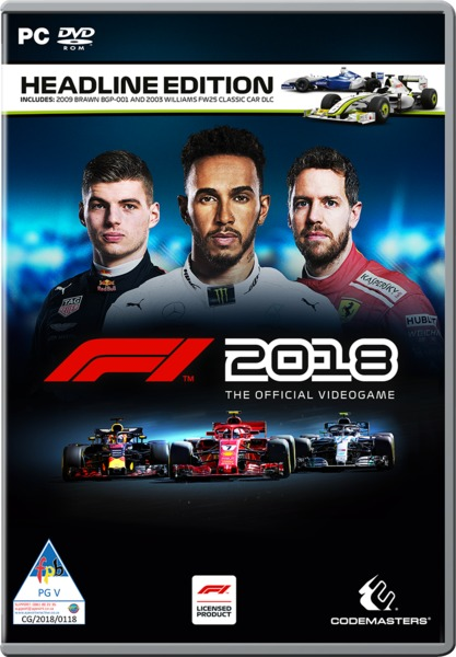 f1 2018 the official videogame headline edition pc. Black Bedroom Furniture Sets. Home Design Ideas