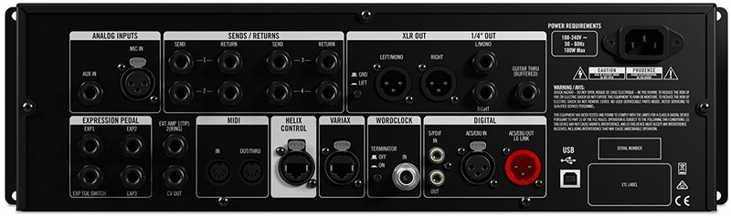 Line 6 Helix Rack 2U Rack Mount Multi Effects Processor (Black)