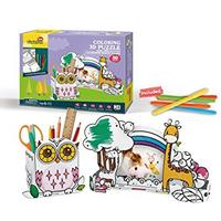 CubicFun - Owl Pen Holder & Giraffe Photo Frame with Pens 3D Puzzle (24 Pieces)