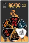 Perri's LP-ACDC4 6 Pack AC/DC Plectrums (Multicolour)