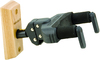 Hercules GSP38WB Guitar Hanger with Auto Grip System Wooden Base and Short Arm (Black)