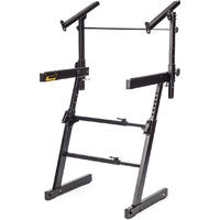 Hercules KS410B Auto Lock Double Tier Z-Keyboard Stand (Black)