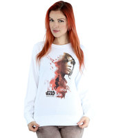 Star Wars Rogue One Jyn Running Ladies White Sweatshirt (XX-Large) - Cover