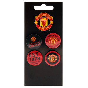 a0959467d2f Manchester United Button Badges (Pack of 4) - Merch Online