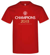 Manchester United Champions 2013 Mens T-Shirt (XX-Large) - Cover