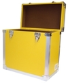 Yellow - 50 LP Record Storage Carry Case (Record Box)