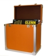 Orange - 50 LP Record Storage Carry Case (Record Box)