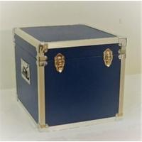 Blue - 100 LP Record Storage Carry Case (Record Box)