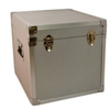 Silver - 100 LP Record Storage Carry Case (Record Box)