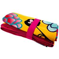 Pylones - Yellow Dahlia Microfibre Beach Towel