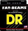 DR FB-40 Fat-Beams Series 40-100 Light Stainless Steel Bass Guitar Strings (FB-40)