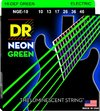 DR NGE-10 Neon Green 10-46 Medium Nickel Plated Steel Electric Guitar Strings