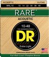 DR RPL-10 Rare Series 10-48 Extra Light Phosphor Bronze Acoustic Guitar Strings