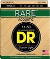 DR RPML-11 Rare Series 11-50 Custom Light Phosphor Bronze Acoustic Guitar Strings