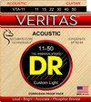 DR VTA-11 Veritas Series 11-50 Custom Light Phosphor Bronze Acoustic Guitar Strings