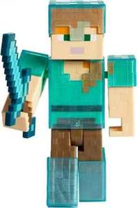 Minecraft - Basic Action Figure:  Alex In Diamond Armour (12cm)