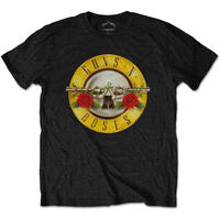 Guns N' Roses - Classic Logo Mens Black T-Shirt (X-Large)