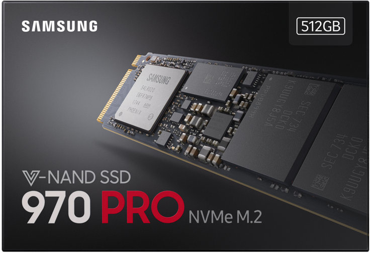 Samsung 970 PRO 512GB - NVMe PCIe M 2 2280 Internal Solid State Drive