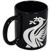 Liverpool - Club Crest Black React 11oz Mug (Ceramic Boxed Mug)