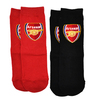 Arsenal - Club Crest Red And Black Socks (Size 12.5)