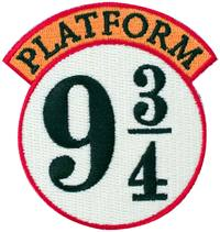 Harry Potter - Platform 9 3/4 Iron On Patch - Cover
