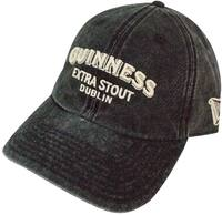 Guinness - Extra Stout Logo Washed Black Men's Hat - Cover