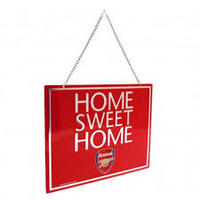 Arsenal - Club Crest Home Sweet Home Sign (Sign) - Cover