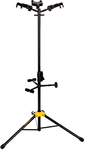 Hercules GS432B Triple Guitar Stand with Auto Grip System and Foldable Backrest (Black)