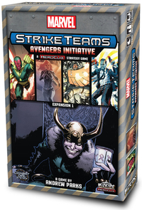 Marvel Strike Teams - Avengers Initiative Expansion (Board Game) - Cover