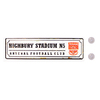 "Arsenal - Club Crest & Text ""HIGHBURY STADIUM N5"" Retro Window Hanging Sign"