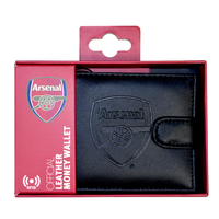 Arsenal - Club Crest RFID Embossed Leather Wallet - Cover