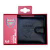 Arsenal - Club Crest RFID Embossed Leather Wallet