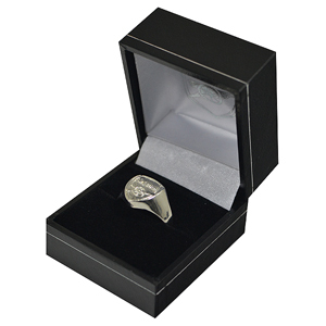 046ee6384977d Arsenal - Club Crest Silver Plated Ring (Large) - Merch Online
