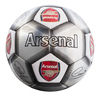 Arsenal - Club Crest & Players Signatures Silver Football (Size 5)
