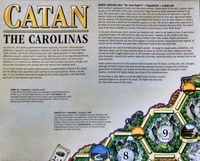 Catan - Geographies: The Carolinas (Board Game) - Cover