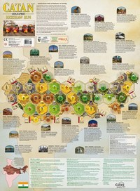 Catan - Geographies: Rickshaw Run Expansion (Board Game) - Cover